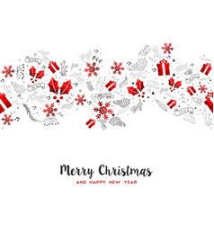 Merry year holiday decoration card vector