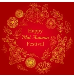 Mid autumn festival card vector