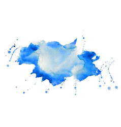 nice blue watercolor stain texture background vector image