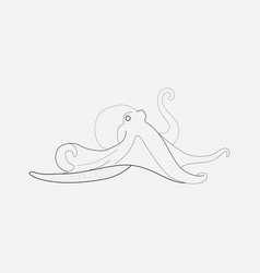 octopus icon line element of vector image