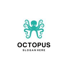 octopus mascot logo vector image