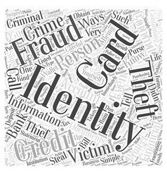 Protection from identity theft Word Cloud Concept vector