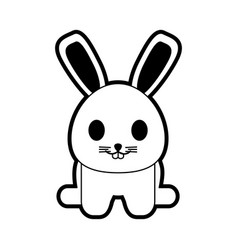 rabbit or bunny cute animal icon image vector image