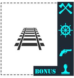 railway icon flat vector image