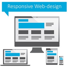 Responsive web-design vector