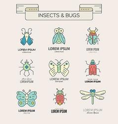 Retro Bugs vector image