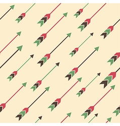 seamless colorful ethnic pattern with arrows vector image