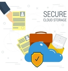 Secure Cloud Storage vector