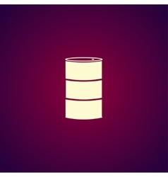 Simple icon barrels of oil vector