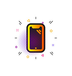 Smartphone icon phone sign mobile device vector