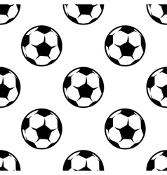 Soccer or football seamless pattern vector image