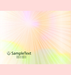 Spring background with sun rays vector