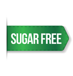 Sugar Free sign ribbon vector image