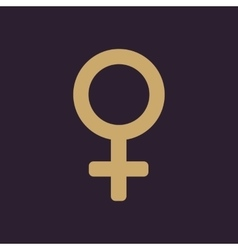 The women icon Female symbol Flat vector