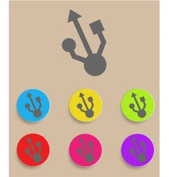 usb symbol - flat design vector image