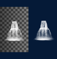 waterfall cascade water fall streams jets vector image