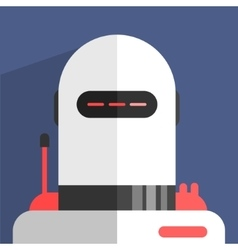 White Madern Design Robot Character vector