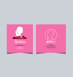 Women day design with white woman silhouette vector