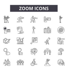 zoom line icons for web and mobile design vector image
