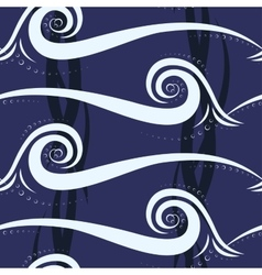 Abstract wave seamless pattern vector image vector image