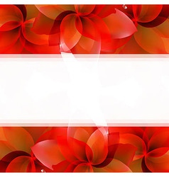 Borders Of Red Tulips vector image