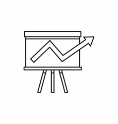 Business chart presentation icon outline style vector image