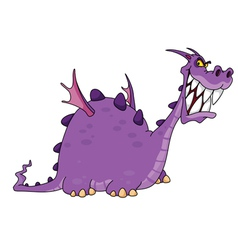smiling dragon vector image vector image