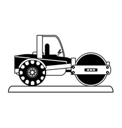 steamroller construction heavy machinery icon vector image vector image