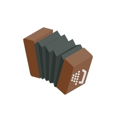 Bandoneon accordion icon isometric 3d style vector image vector image