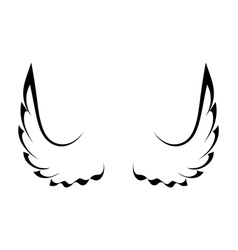Black tattoo wings vector image vector image
