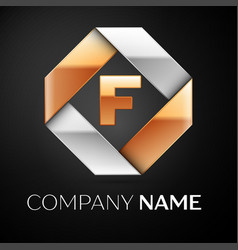 Letter f logo symbol in the colorful rhombus on vector