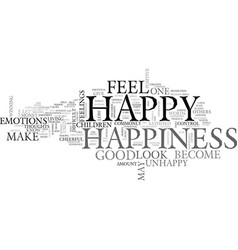 what is happiness can it be defined text word vector image vector image