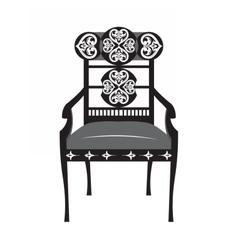 Classic biedermeier style chair vector
