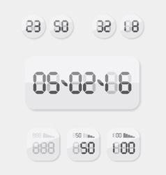 Countdown Timer date and clock vector image vector image