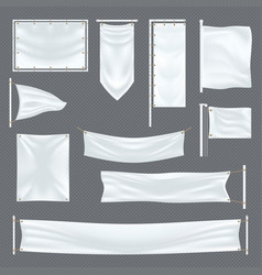 empty or blank fabric template on transparent vector image