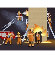 Firefighter People Design Concept vector image