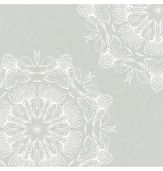 Floral ornament mandala background card vector image vector image