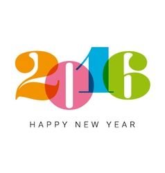 happy new year 2016 number font vector image vector image