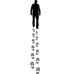 walking man vector image vector image