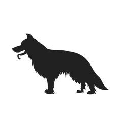 German shepherd black silhouette vector image