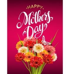 Mothers Day Lettering vector image