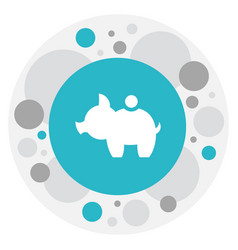 Of business symbol on pig vector