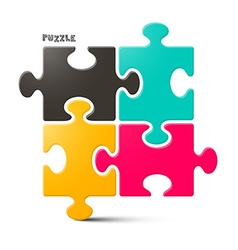 Puzzle - Jigsaw Isolated on White Background vector image vector image