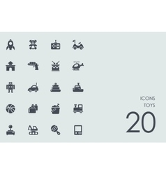 Set of toys icons vector