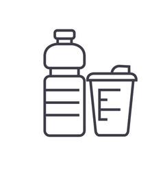 sport food fitness food flat line vector image