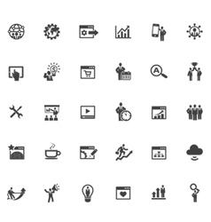 35 SEO Icons vector image