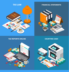 accounting tax isometric concept vector image