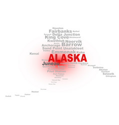 Alaska state word cloud vector