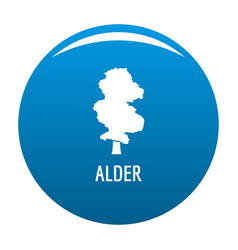 alder tree icon blue vector image