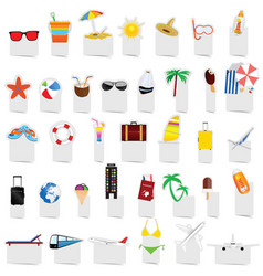 beach stuff icon set vector image